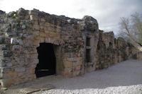 La facade Est de la Commanderie des Templiers de Vaour