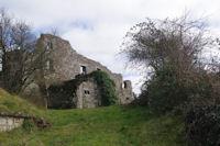 La facade Ouest de la Commanderie des Templiers de Vaour