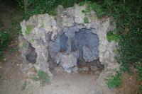 Concretions bleutees dans le Jardin des Hortensias