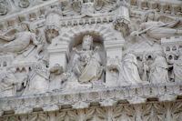 Detail de l'entree de la Basilique de Fourviere