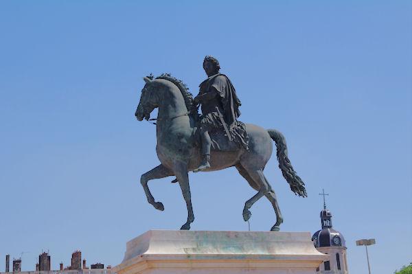 La staue de Louis XIV sur la Place Bellecour