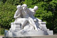 Une statue du Parc de la Tete d'Or