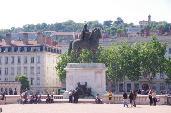 La statue de Louis XIV sur la Place Bellecour