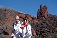 Marie Francoise et Fred sur les pentes de l'Etna