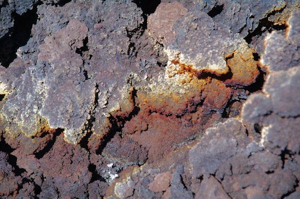 Cristallisations dans une coulée récente