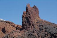 Accumulations de lave de la derniere eruption de l'Etna