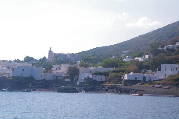 L_église San Bartolo à Stromboli
