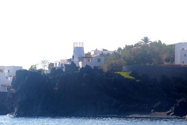 Un ancien moulin à Stromboli