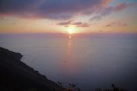 Coucher de soleil depuis les pentes du Stromboli