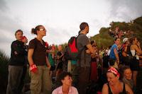 Toute l'equipe de Terre d'Aventure fete leur 35ans au Stromboli