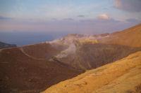 Le cratere du Vulcano et ses fumeroles