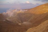 Le fond du cratere du Vulcano